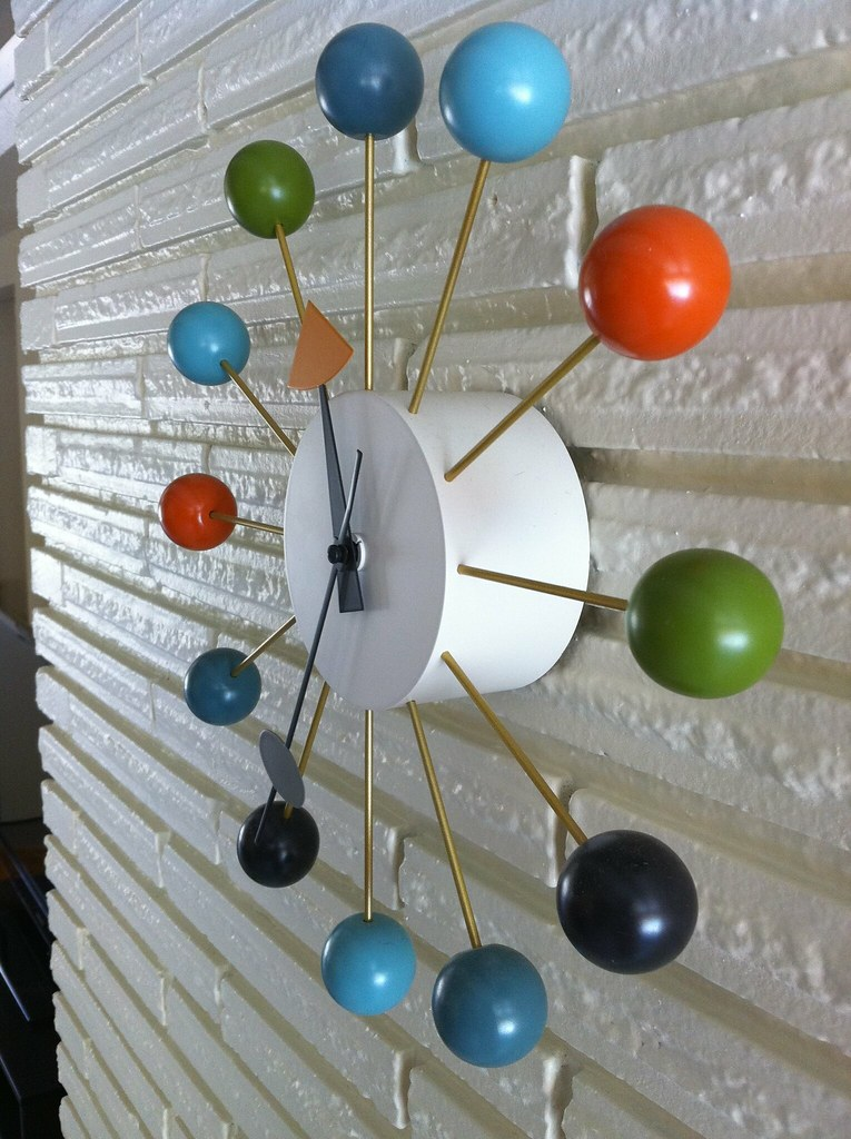 george nelson ball clock vitra design reproduction george flickr. Black Bedroom Furniture Sets. Home Design Ideas