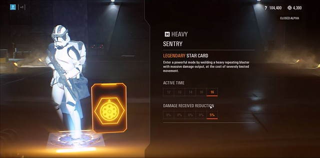 Star Wars Battlefront 2 - Heavy Sentry Legendary Star Card