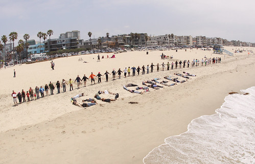 Hands Across The Sand, Venice Pier, Venice, CA | by Linda Milazzo