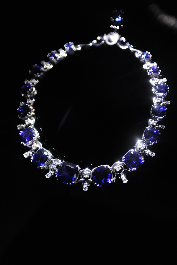Tanzanite Amp White Sapphire Necklace By Ernesto Moreira