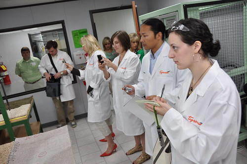 Tigressa Blogger Event - Lab Tests - Flooring America | by Flooring America