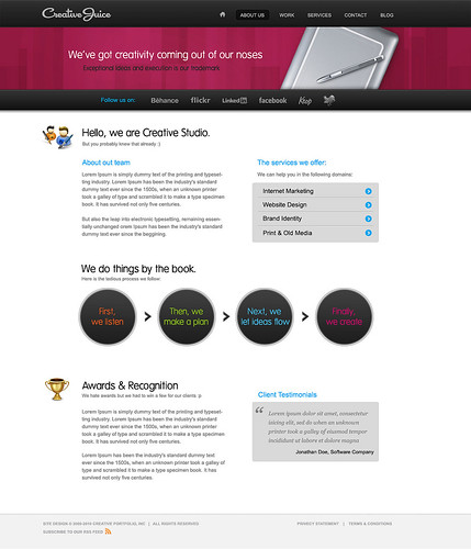 Creative Juice HTML/WP template - About us | by ThemeFuse