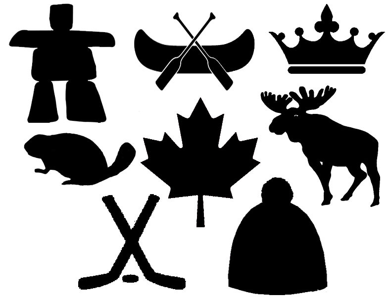 Canadian Symbols Stencils for Pennant Bunting | Blogged at ...