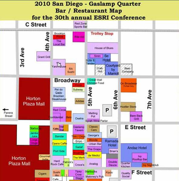 ESRIUC San Diego Gaslamp Bar Restaurant Night Club map Flickr