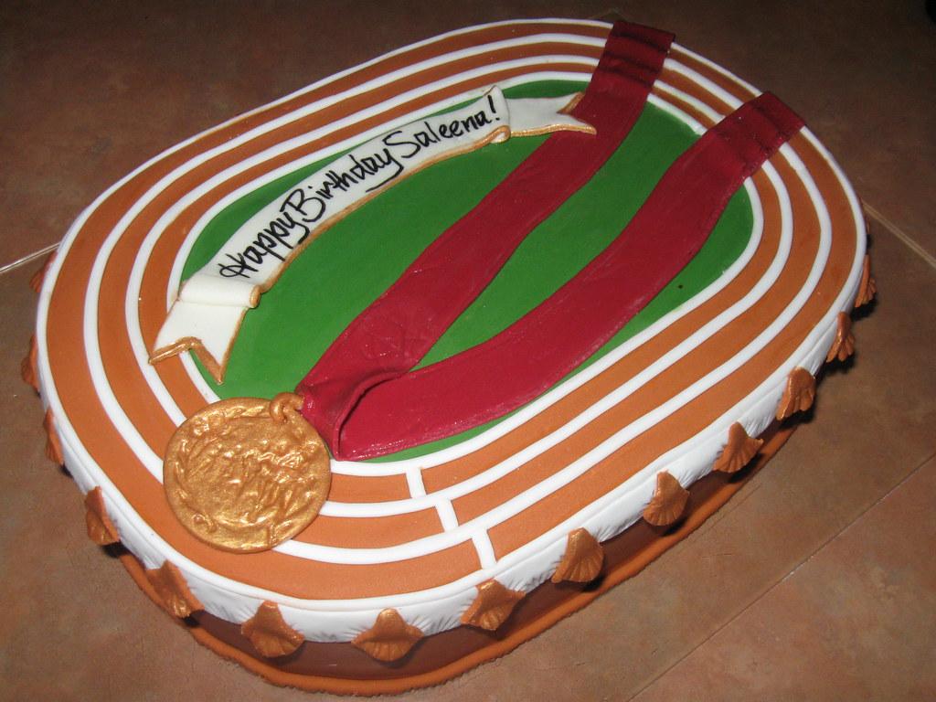 Track And Field Birthday Cake