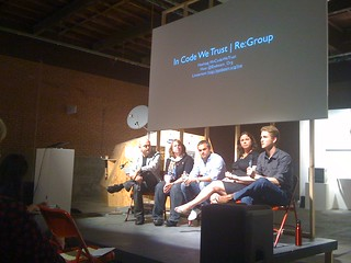 In Code We Trust: crowd sourced democracy in the 21st century organized and moderated by Noel Hidalgo, Not An Alternative | by eyebeam