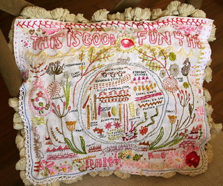 my finished Rebecca Ringquist sampler pattern | by pam garrison