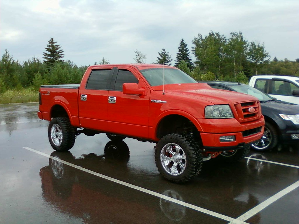 lifted f 150 red chrome wheels custom lifted f 150 red chr - Red Ford F150 Lifted