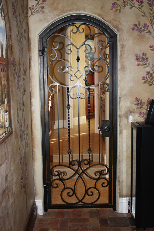 ... Www Forge Iron Designs, Wrought Iron Wine Cellar Door | By Forge Iron  Designs, Www