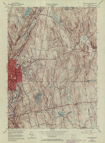 Torrington Quadrangle 1969 - USGS Topographic Map 1:24,000 | by uconnlibrariesmagic