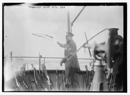 Throwing Guns into sea  (LOC) | by The Library of Congress