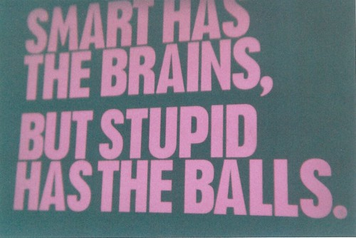 Smart has the brains, but stupid has the balls. | by eddylazophotography
