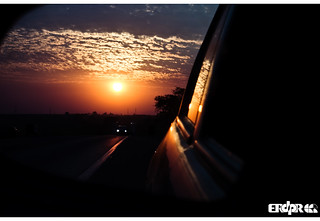 Rearview mirror Sunset | by Erdpr