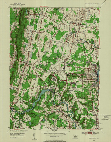 Windsor Locks Quadrangle 1953 - USGS Topographic Map 1:24,000 | by uconnlibrariesmagic