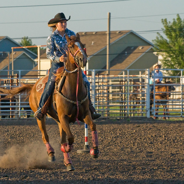 Rodeo pole bending