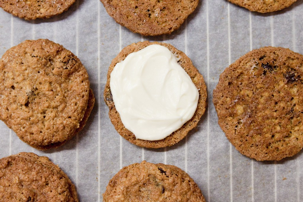 Carrot Cake Cookies With Orange Frosting