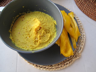 Curry Hummus | by veganbackpacker