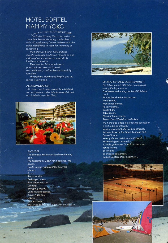 Sierra Leone Tourist Brochure 1980S. Africoast Holidays. H… | Flickr