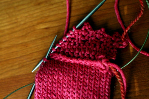 Knitting on edging | by ElinorB
