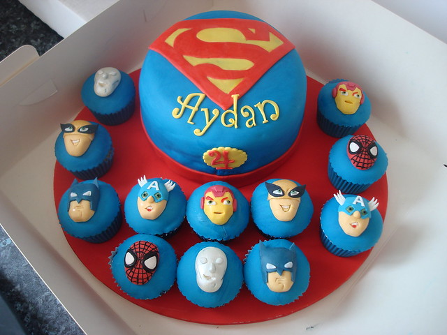 Superhero Squad cake and cupcakes | Flickr - Photo Sharing!