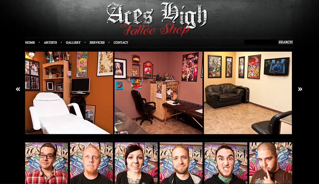 Aces high tattoo shop new website and shop photos by chris for Tattoo nightmares shop website