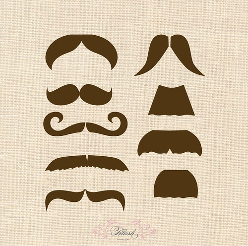 Mustache Bash Printables | by blush printables