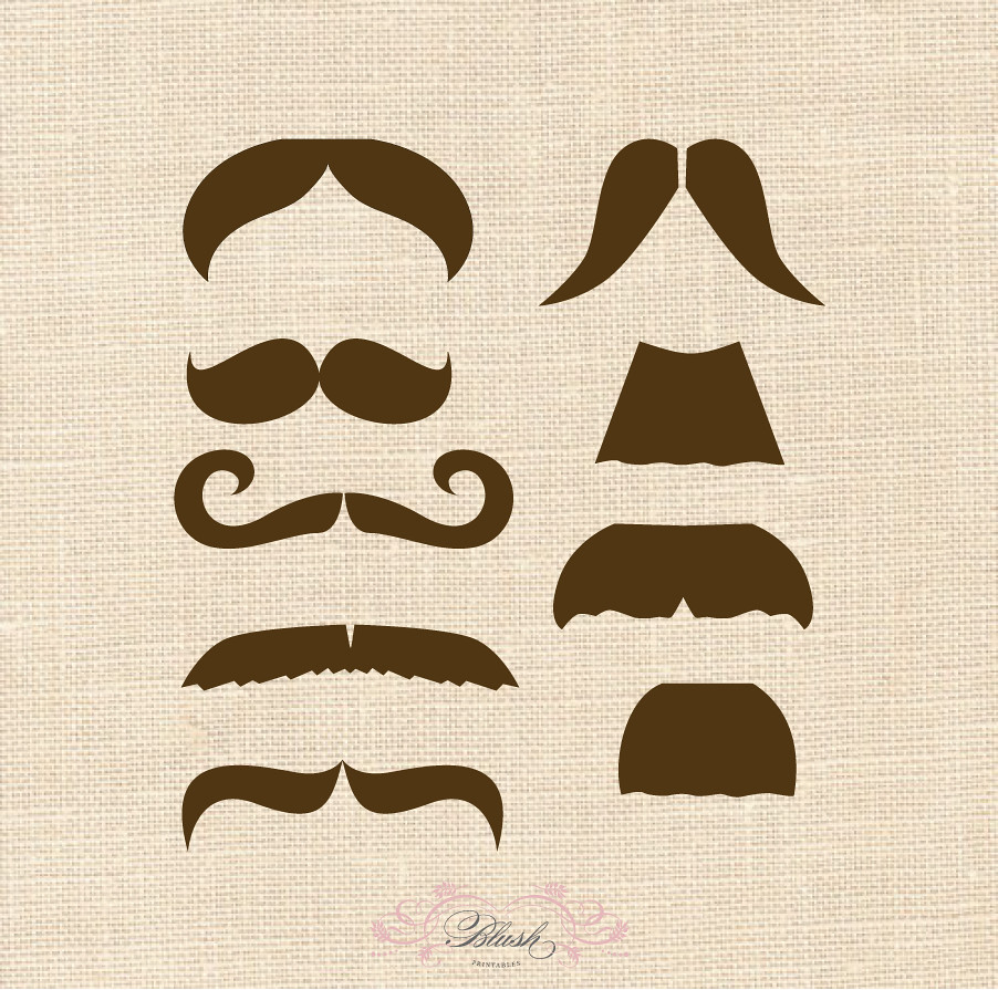 picture relating to Printable Moustaches identify mustache printables -