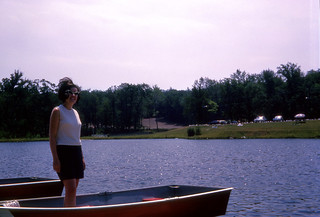 Mom standing on a rowboat | by epicharmus