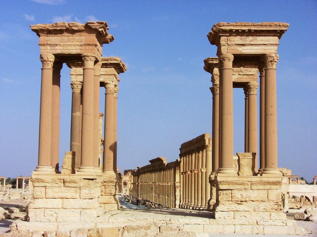 SYRIEN-Palmyra, Tetrapylon  - 806