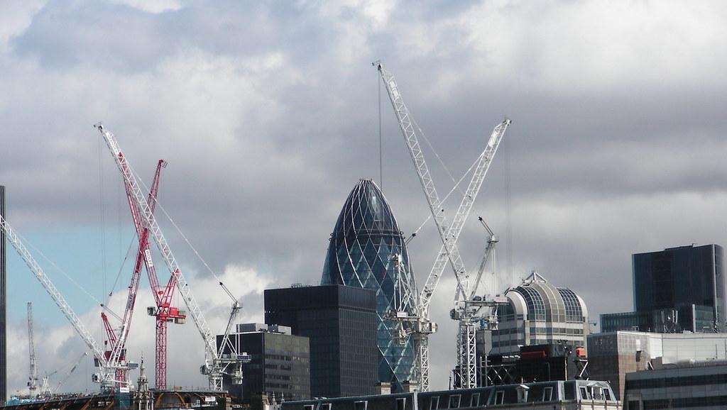 Cranes On London Skyline Dj Leekee Lee Smith Flickr