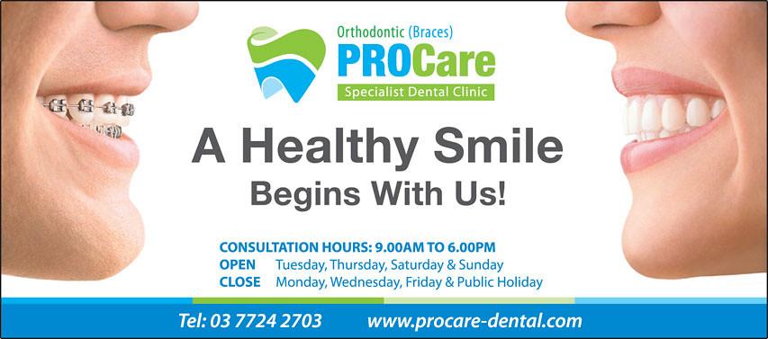 ProCare Dental Clinic Banner(Layout 1) | Layout & Designed b… | Flickr