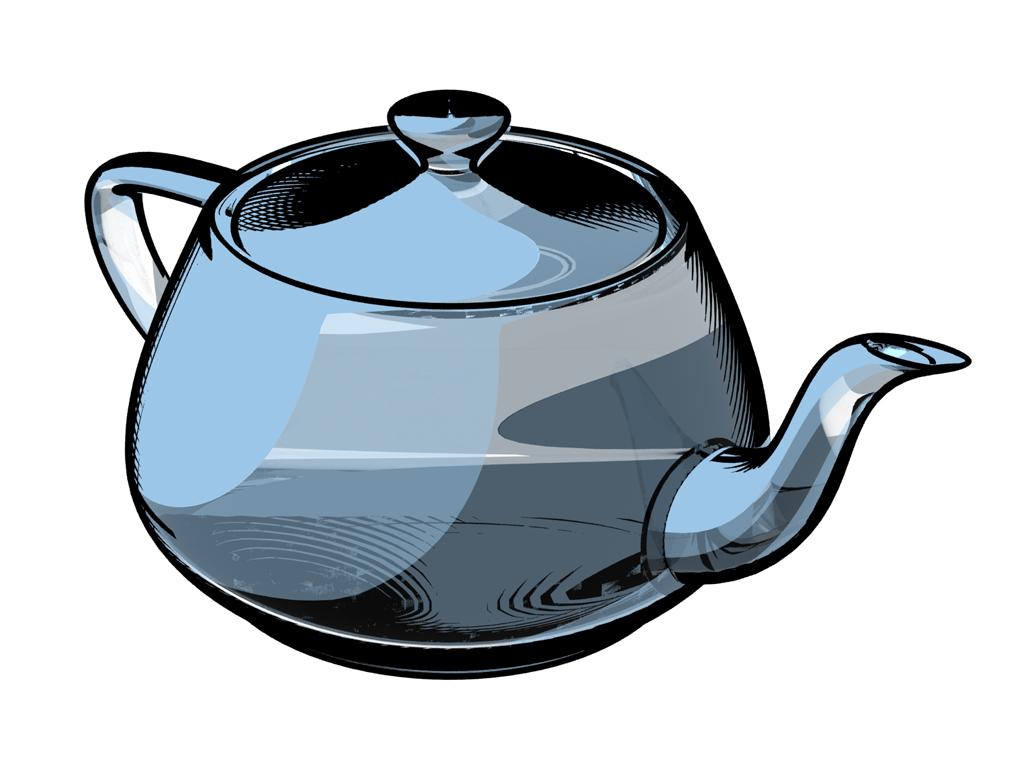 Teapot Cartoon Copy Combined Falloff Glass And Line Art Flickr