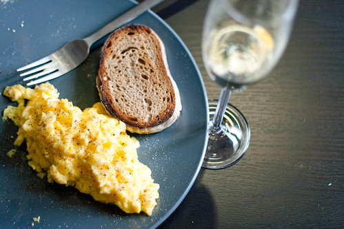 Scrambled eggs and toast | by yannie