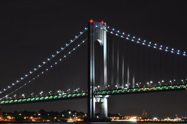 Verrazano-Narrows Bridge at Night | Flickr - Photo Sharing!