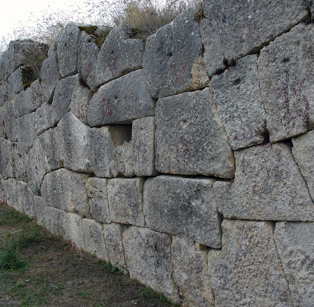 Alba Fucens Polygonal Masonry Terrace Wall Of Polygonal