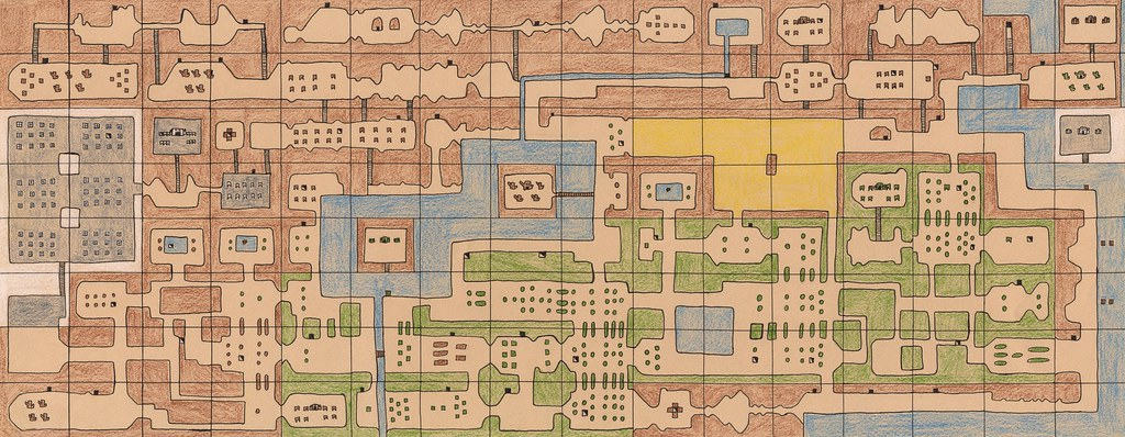 Legend of Zelda - Large map | My favorite hand-drawn map. Cl ...