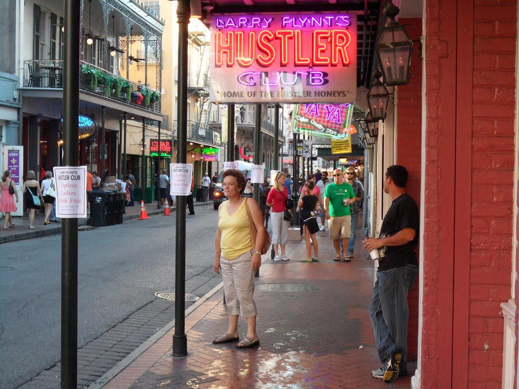 hustler on bourbon street