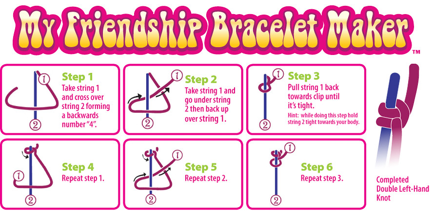 Friendship Bracelet Double Left Hand Knot To See Video D Flickr