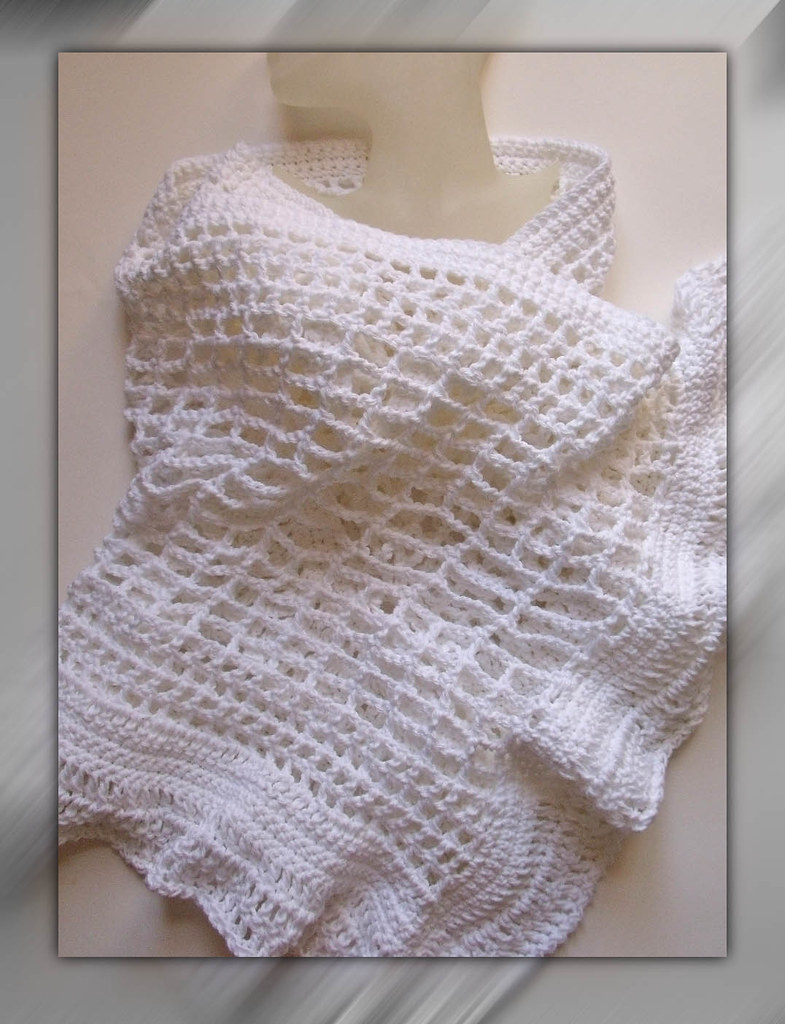 Free Crochet Patterns For Bridal Shawls : Crochet scarf, shawl, and cover up Multifunctional accesso ...