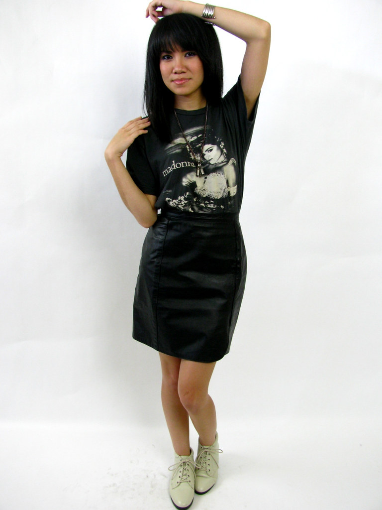 Vintage 80 S Mini Leather Skirt Giselaandzoe Flickr