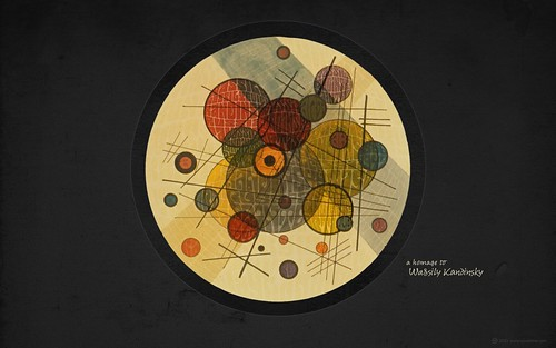 HOMAGE TO WASSILY KANDINSKY »In the Black Circle« (for widescreen displays) | by arnoKath