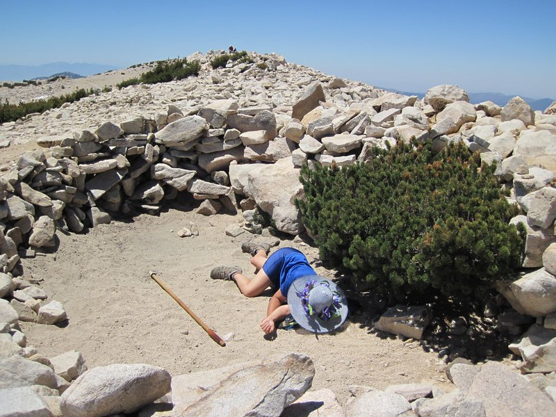 Vicki taking a well-deserved nap on the San Gorgonio Summit