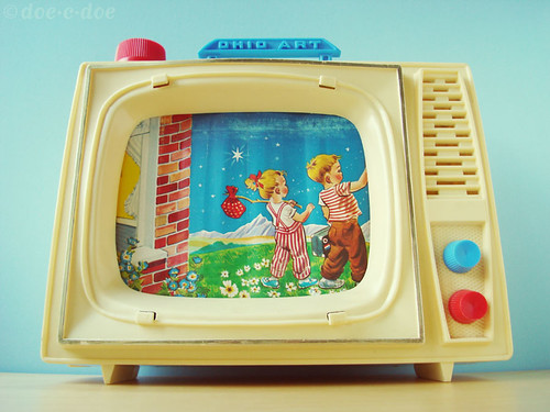 thrifted ohio art toy tv | by doe-c-doe