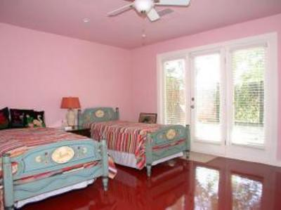 Pink Bedroom with Shiny Red Floor The eclectic blend of mo Flickr