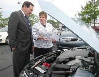 Congressman Donnelly visits Jordan Ford to talk about American hybrid vehicles | by RepJoeDonnelly
