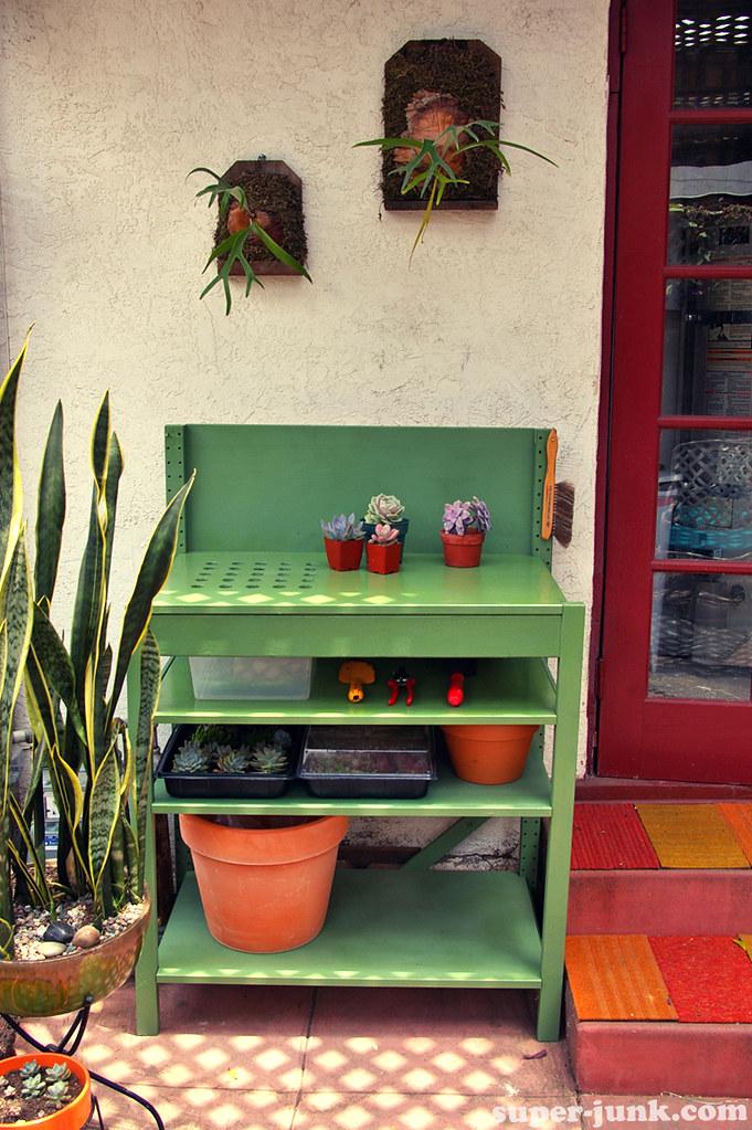 Potting Bench Ikea Hack I Built A Potting Bench From Lefto Flickr