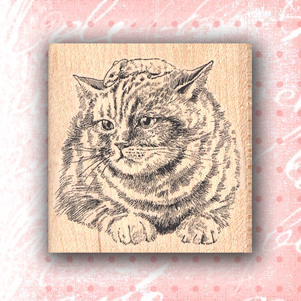 Cat rubber stamp craft stamps rubber stamp wooden for Custom craft rubber stamps