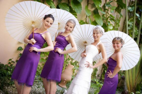 Purple bridesmaid gowns color purple symbolic meaning for Wedding dress color meanings