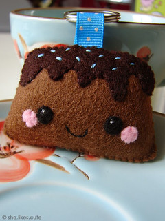 Shop update: Choco cake keychain | by she.likes.cute