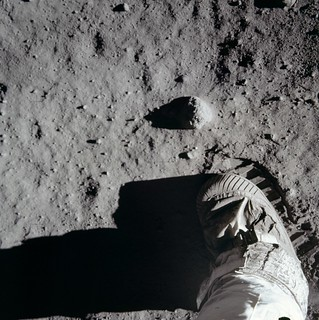 Lunar surface with Astronaut boot | by NASA Goddard Photo and Video